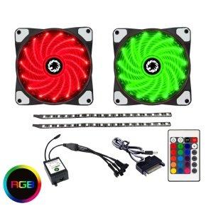 Game Max RGB Kit 2x Fans 2x LED Strips Remote Control