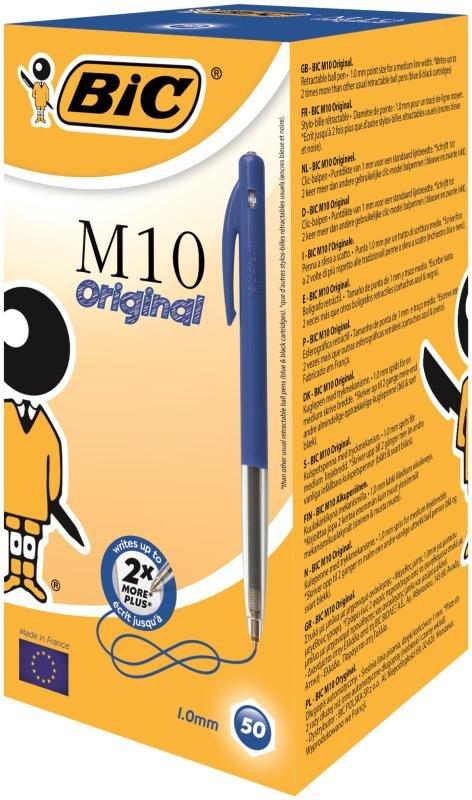 Bic Clic Retractable Blue Ballpoint Pen (Pack of 50)