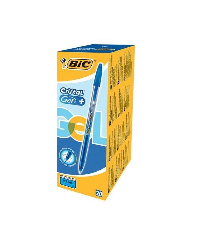 Bic Cristal V2 Blue Gel Pen 0.8mm (Pack of 20)