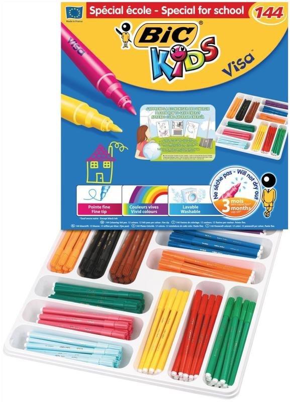 Bic Kids Assorted Visa Felt Pens (144 Pack)