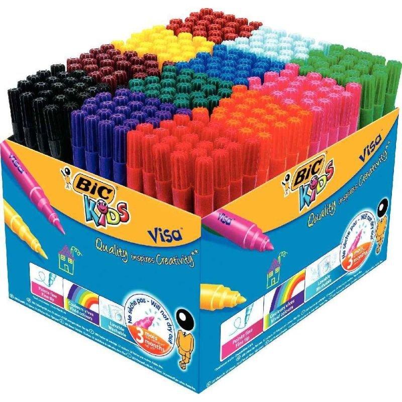 Bic Kids Assorted Visa Felt Pens (Pack of 288)