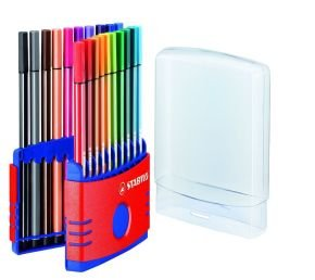 Stabilo Pen 68 Fibre Tip Pen - Assorted (Pack of 20)