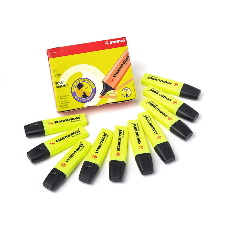 Stabilo Boss Original Highlighter Yellow (10 Pack)