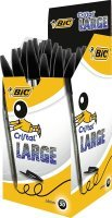 Bic Cristal Large Ballpoint Pen - Black (Pack of 50