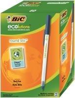 Bic Ecolutions Medium Blue Ballpoint Pen (Pack of 60)