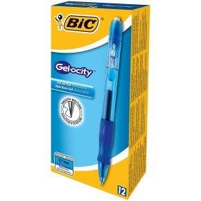 Bic Gelocity Gel Pen Medium Blue (Pack of 12)
