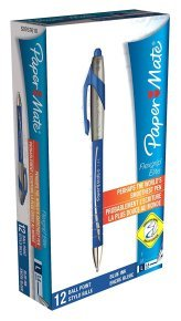 Papermate Flexgrip Elite Ballpoint Pen - Blue (12 Pack)