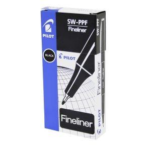 Pilot Black Fineliner Pen (12 Pack)
