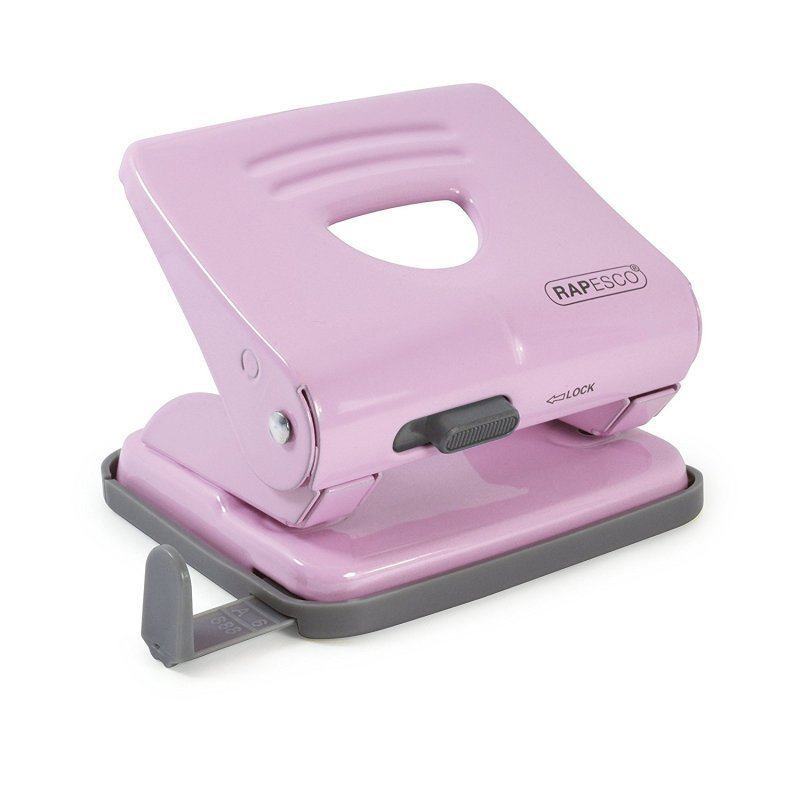 Rapesco 825 2 Hole Metal Punch - Candy Pink