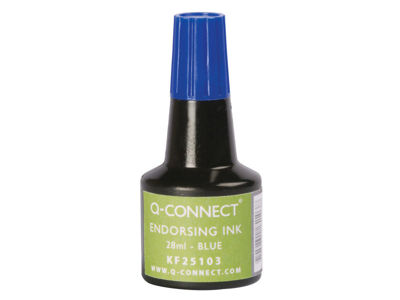Q-Connect Blue Endorsing Ink 28ml (Pack of 10)