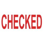COLOP Green Line Word Stamp 'CHECKED'  Red
