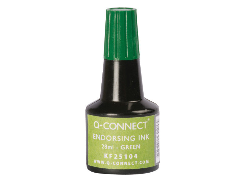 Q-Connect Green Endorsing Ink 28ml (Pack of 10)
