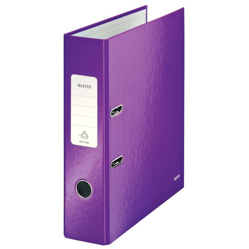Leitz 180 Wow 80mm Purple A4 Lever Arch File (10 Pack)
