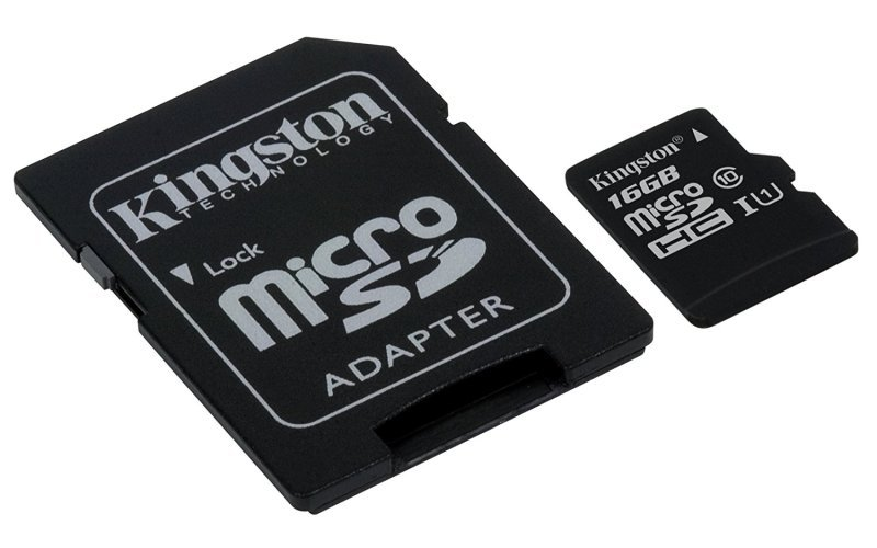 Kingston Canvas Select 16GB Micro SD Card + SD Adapter