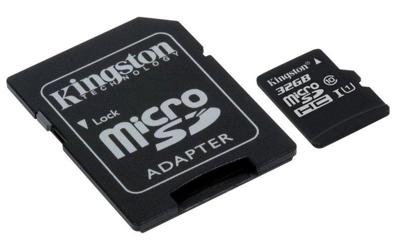 Kingston Canvas Select 32GB Micro SD Card + SD Adapter
