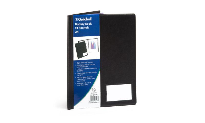 Guildhall A4 Display Book 24 Pocket - Black (1 Pack)