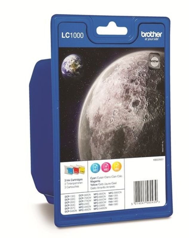 Brother LC1000RBWBP ink Cartridge Rainbow Pack