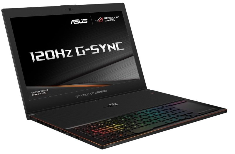 "Image of ASUS ROG Zephyrus GX501VS 1070 Gaming Laptop, Intel Core i7-7700HQ 2.8GHz, 16GB DDR4, 512GB SSD, 15.6"" FHD, No-DVD, NVIDIA GTX1070 8GB, WIFI, Bluetooth, Windows 10 Home 64bit"