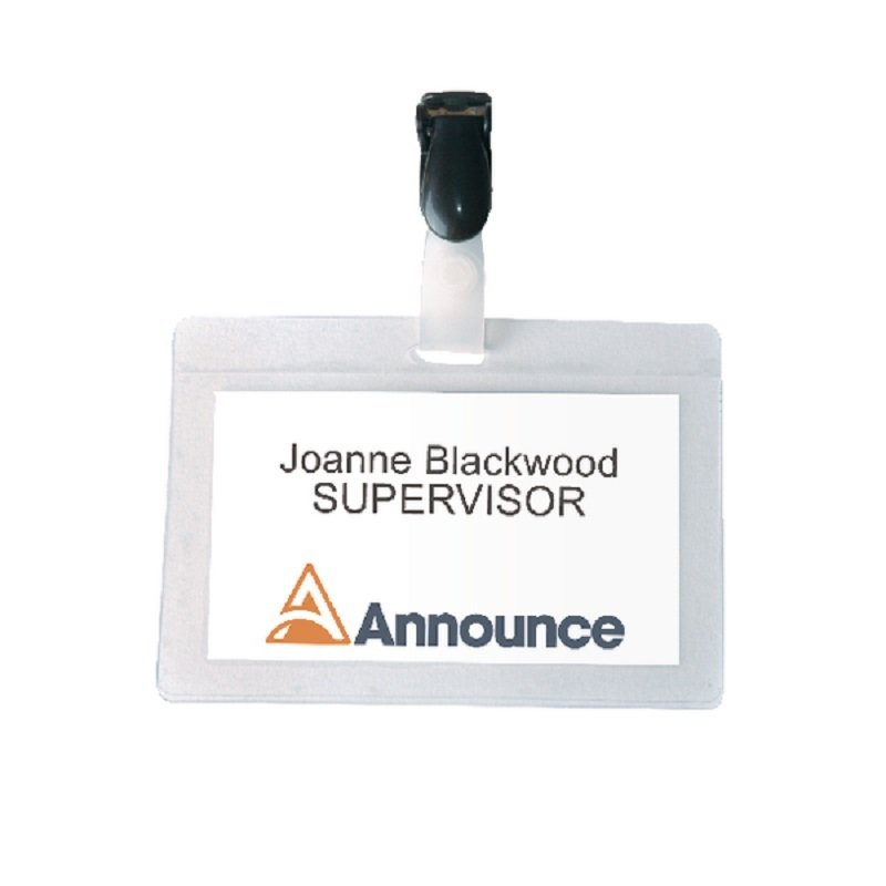 Image of Announce Self-Laminating Badge 54x90mm (Pack of 25) PV00924