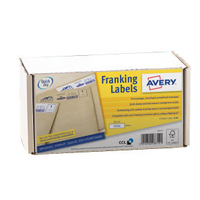 Avery 194x39mm White Franking Label (1000 Pack)