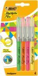 Bic Highlighter Flex Brush Tip -  Assorted  (4 Pack)