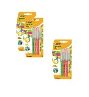 BIC 4 Highlighter Flex Assorted Colours (3 Packs of 4)