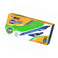 BIC Gelocity Quick Dry Blue (Pack of 12)