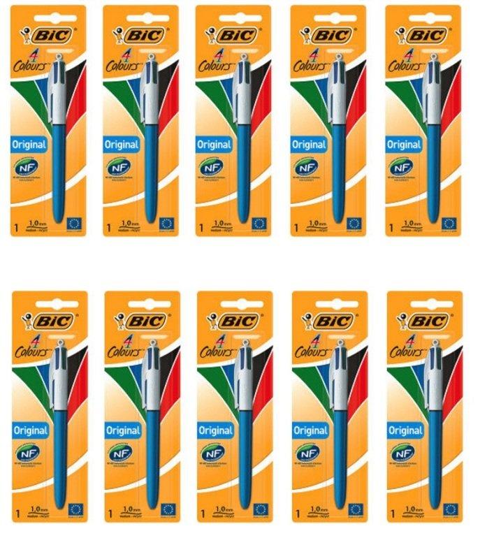 Bic 4 Colour Pen Blister (10 Packs of 1)