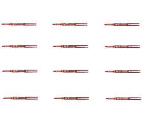 Pilot V7 Hi-Tecpoint Ultra Red Rollerball Pen (Pack of 12)