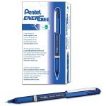 Pentel Blue Energel Plus Needle Tip Pen (12 Pack)