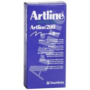 Artline 200 Fineliner Black (Pack of 12) A2001