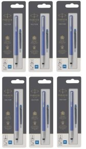 Parker Blue Vector Fountain Pens Standard (Pack of 6)
