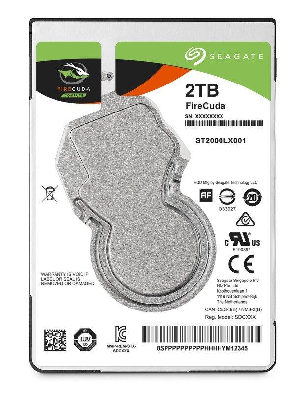 "Seagate FireCuda Laptop 2TB Hybrid Hard Drive (SSHD) 2.5"" 7mm SATA III 6GB's 5400RPM 128MB Cache"