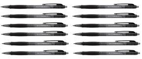 Q-Connect Retractable Ballpoint Black Pen (Pack of 10)