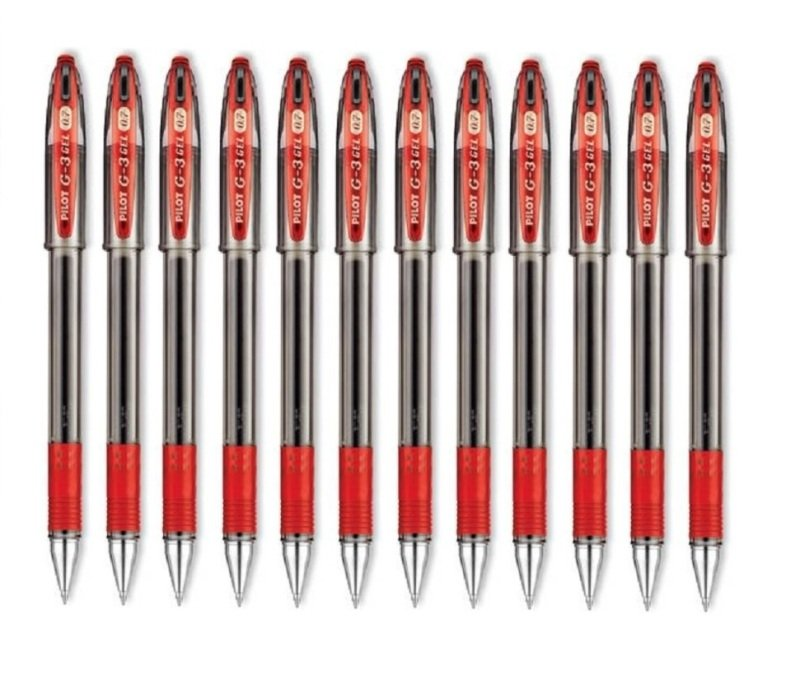 Pilot G3 Gel Ink Rollerball Pen - Red (12 Pack)