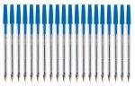 Q Connect Ballpen Medium Blue - 20 Pack