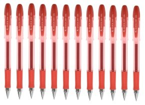 Q-Connect Red Quick Dry Gel Pen (12 Pack)