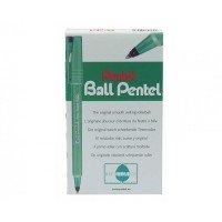 Pentel Ball Blue Rollerball Pen (Pack of 12)