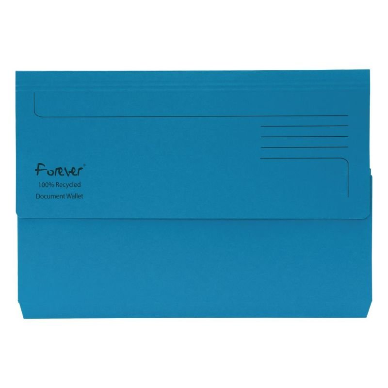 Guildhall Forever Bright Blue Document Wallet (25 Pack)