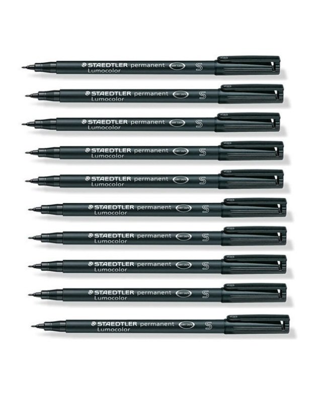Staedtler Lumocolor Sf Perm Black 313-9 - 10 Pack
