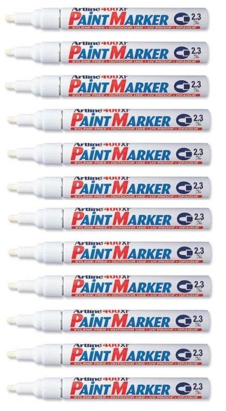 Image of Artline 400 Medium White Bullet Tip Paint Marker (Pack of 12) A400