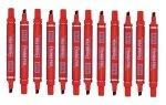 Pentel Marker Chisel Tip Red N60-b - 12 Pack
