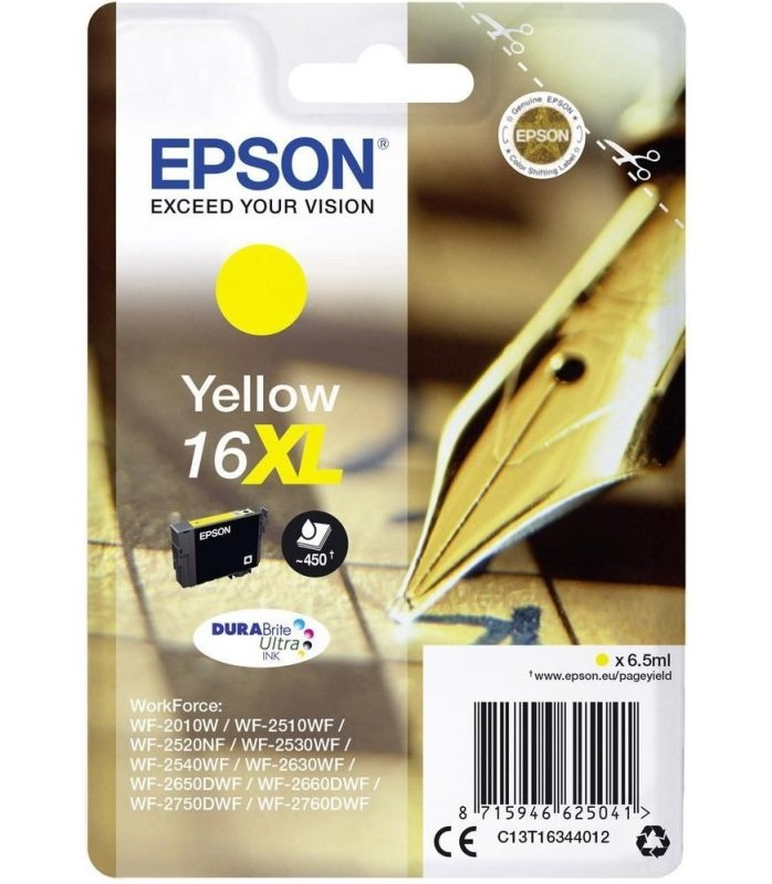 Epson 16XL Yellow Ink Cartridge