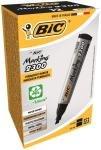 Bic Marker Permanent Chisel Tip Black 300093 - 12 Pack