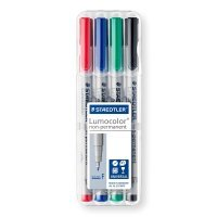 Staedtler Lumocolor Fine Tip Pen - Assorted (4 Pack)