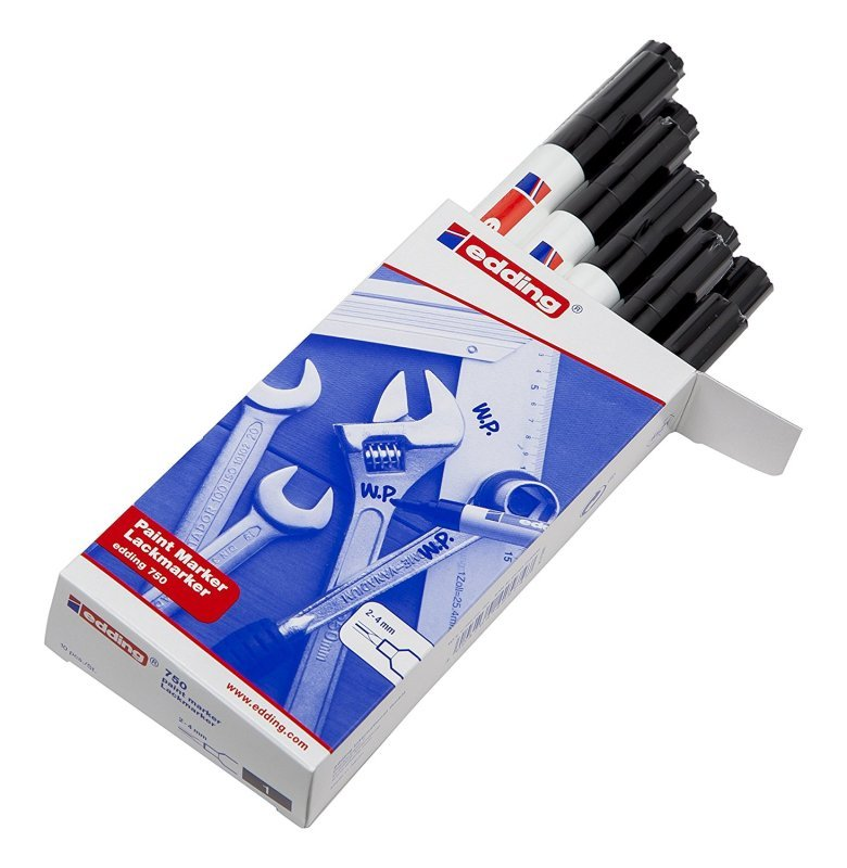 Image of Edding Paintmarker Opaque Black 750 - 10 Pack