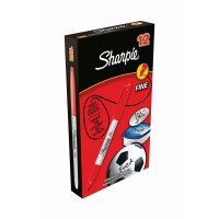 Sharpie Red Permanent Marker Fine (Pack of 12)