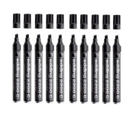 Edding Permanent Markers Black 2000c-001 - 10 Pack