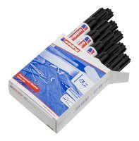 Edding Permanent Marker Black 500 - 10 Pack