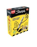 Sharpie Metal Perm Marker Sml Bullet Blk - 12 Pack